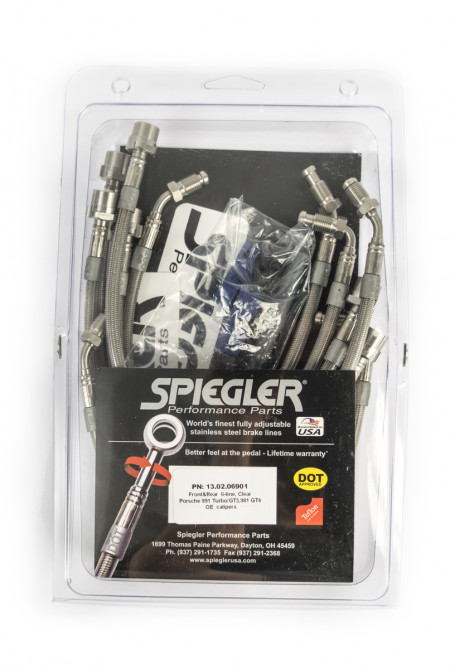 Spiegler Stainless Brake lines - Porsche 991GT3/981GT4 front and rear 6-line kit