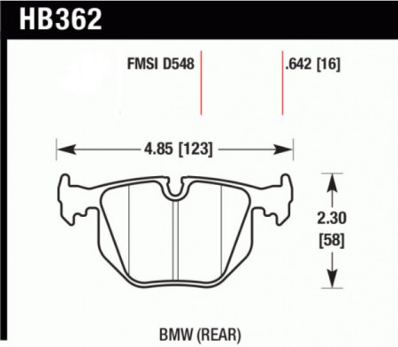 Hawk HB362 .642N (HP+) BMW (Rear)