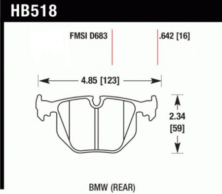 Hawk HB518 .642U (DTC-70) BMW (Rear)