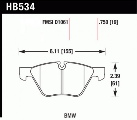 Hawk HB534 .750Z (Performance Ceramic) BMW