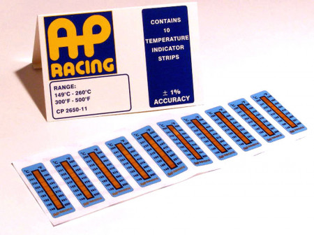 Caliper temperature strips 300-500°F