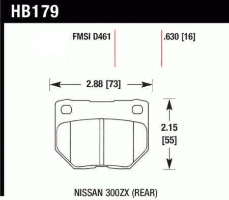 Hawk HB179 .630N (HP+) Nissan 300ZX (Rear)