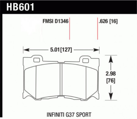 Hawk HB601 .626Z (Performance Ceramic) Infiniti/ Nissan