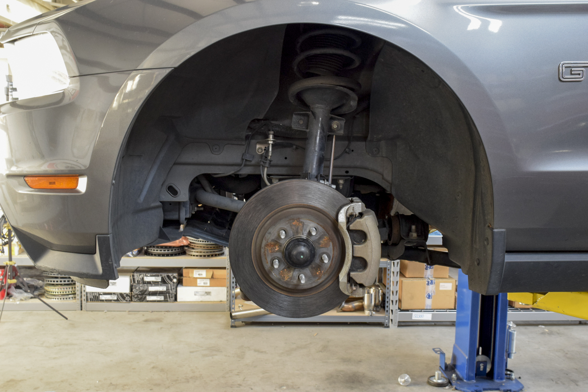 Take your S197 Mustang GT brakes from meager to massive